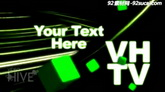 绿色电视字幕logo晃动展示ae模板