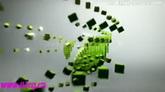 粒子汇聚频道标志运动ae模板Voxel channel