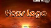 火焰天空影戏标记ae模板Cinematic Logo