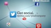 科技類社交網絡動畫網絡公司廣告宣傳片ae模板 Get Social