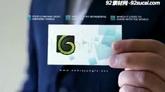 科技公司卡片名片展示ae模板ae工程文件 business card v1