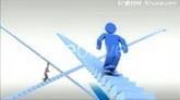 楼梯小人公司企业商务积极向上攀登AE模板 Stairs presentation