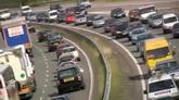 城市车流交通航拍镜头高清实拍视频素材