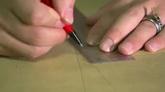 设计师运用尺子手绘画图纸高清实拍视频素材