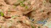 美食酿莲藕油炸莲藕夹肉高清实拍视频素材