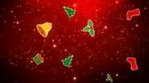 红色圣诞节日背景素材 圣诞节元素高清视频