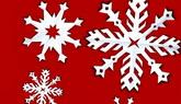 8组圣诞节日素材 剪纸风格雪花飘落高清背景视频素材