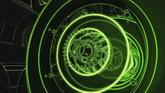 绿色数字基座一组高清背景视频素材