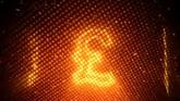 商务金融英镑霓虹灯闪烁一组高清背景视频素材