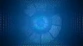 蓝色粒子转场高清背景视频素材
