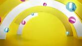 糖果色半圓通道高清背景視頻素材