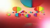 彩色缤纷旋转高清背景视频素材