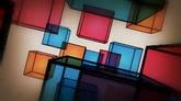 彩色玻璃方块旋转高清背景视频素材