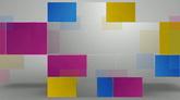 彩色方格高清背景视频素材