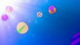 彩色圆圈坠落高清背景视频素材