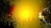金色天际线城市一组高清背景视频素材
