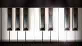 钢琴键高清配景视频素材