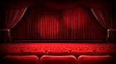 剧场舞台红帘屏幕高清背景视频素材