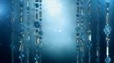 闪亮蓝色珠帘高清背景视频素材
