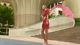 外國美女絲帶飛舞高清實拍視頻素材