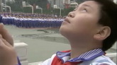 小学生升国旗高清实拍视频素材