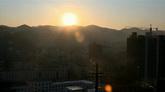 城市太阳落下高清实拍视频素材