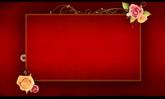 婚礼喜庆相框 鲜花围绕生长高清背景视频素材