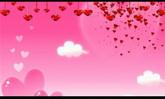 婚庆庆典 粉红色背景 红色爱心飘落 高清背景视频素材