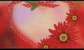 喜慶婚慶 太陽花圍繞愛心閃爍 高清背景視頻素材