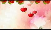 婚庆庆典 玫瑰花转动 一箭穿心流动高清动态背景视频素材