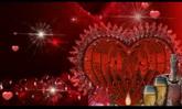 喜慶 婚慶慶典 香檳煙花慶祝 愛心閃耀 高清動態背景視頻素材