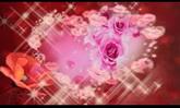 婚庆庆典 鲜花爱心闪耀高清动态背景视频素材