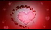 婚庆庆典 玫瑰花围绕红色爱心扩张 高清动态背景视频素材