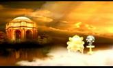 唯美仙境婚庆 天鹅湖宫殿 沙发 高清实拍视频素材