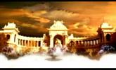 唯美婚庆 瑶池城堡喷泉 高清静态配景视频素材