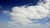 蓝天白云 云层快速流动 2个高清实拍视频素材
