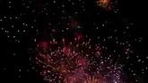壮观烟花 绚丽烟火特写镜头 高清实拍视频素材