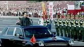 国庆庆典 胡锦涛主席检阅三军 高清实拍视频素材