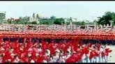 國慶慶典 閱兵儀式 歡慶的大場面 高清實拍視頻素材