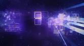 绚丽粒子光线波纹闪耀高清动态背景视频素材