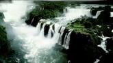 航拍 大瀑布壯觀景色 高清實拍視頻素材