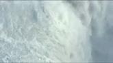 航拍大瀑布壮观全景 自然风景高清实拍视频素材