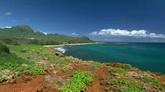 海岸风光美景 蓝天白云 蓝色海洋高清实拍视频素材