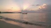 海面上的小船风景美景高清实拍视频素材
