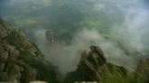 山霧繚繞山川自然風光美景高清實拍視頻素材