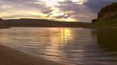 夕阳下的湖面自然风光美景高清实拍视频素材