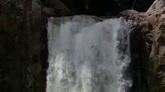 绿色山林里小瀑布特写自然风光美景高清实拍视频素材