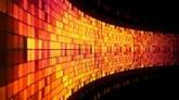 金黄色墙壁闪烁流动高清动态背景视频素材