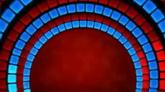 蓝红半圆通道延伸高清动态背景视频素材
