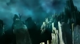 雷鸣闪电乌云密布石山高清动态背景视频素材